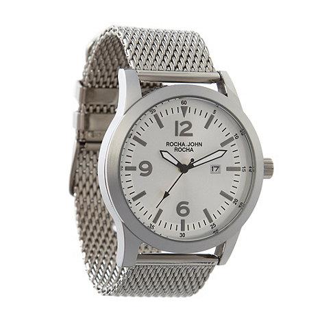 RJR.John Rocha - Designer men+s silver chunky mesh watch
