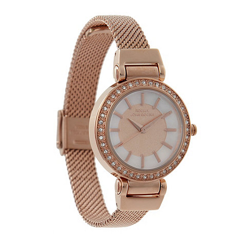 RJR.John Rocha - Designer ladies rose gold mesh watch
