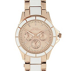 RJR.John Rocha - Designer ladies rose gold enamel watch