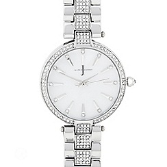 J by Jasper Conran - Designer ladies silver crystal watch
