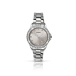 Sekonda - Ladies chrome coloured case with stainless steel bracelet