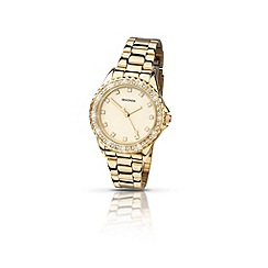 Sekonda - Ladies round gold plated stone set  bracelet watch