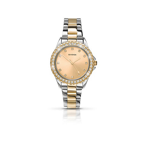 Sekonda - Ladies round two-stone set bracelet watch 4252.28