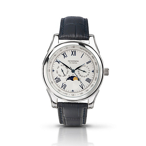 Sekonda - Men+s moon-phase watch