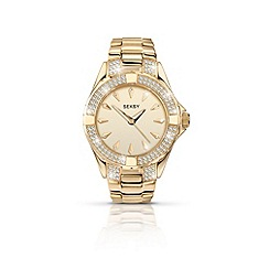 Seksy - Ladies round gold plated bracelet watch
