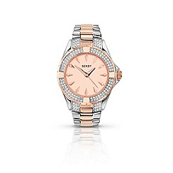 Seksy - Ladies round two-tone bracelet watch