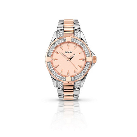 Seksy - Ladies round two-tone bracelet watch 4233.37
