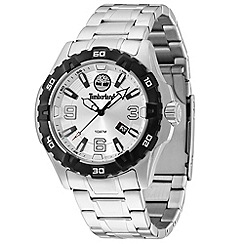 Timberland - Men's silver 'Gilford' stainless steel bracelet watch