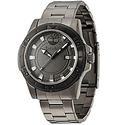 Timberland - Men's dark grey IP gun 'Rollins' stainless steel bracelet watch