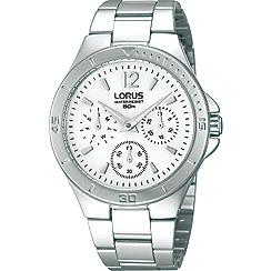 Lorus - Ladies chronograph silver bracelet watch