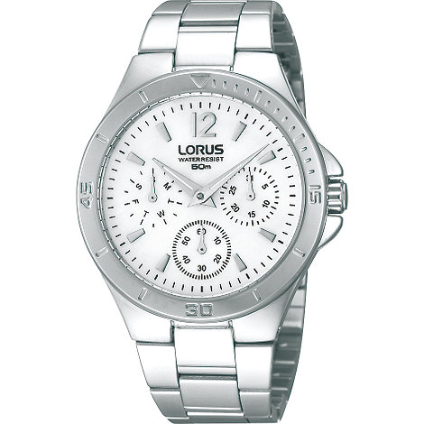 Lorus - Ladies chronograph silver bracelet watch