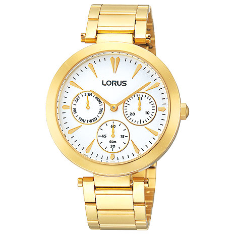 Lorus - Ladies gold plated multi dial watch