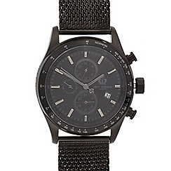 Jeff Banks - Designer men's black mesh strap watch