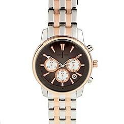J by Jasper Conran - Designer menÆs chronograph two tone bracelet watch