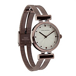 RJR.John Rocha - Ladies designer brown split mesh bracelet watch