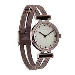 RJR.John Rocha - Ladies designer brown split mesh bracelet watch