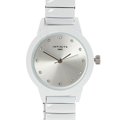 Infinite - Ladies white expanding bracelet watch