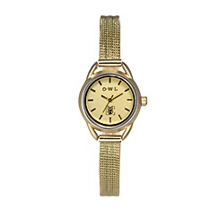 O.W.L - Ladies 'Cambridge' gold watch with gold mesh bracelet