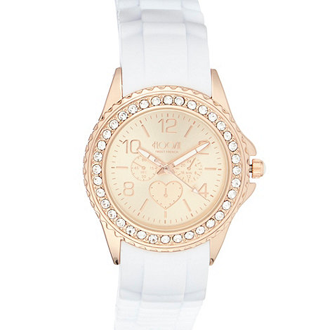 Floozie by Frost French - Designer ladies white silicone watch