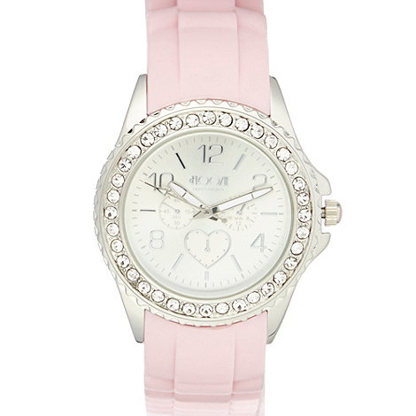 Floozie by Frost French - Designer ladies pink silicone watch