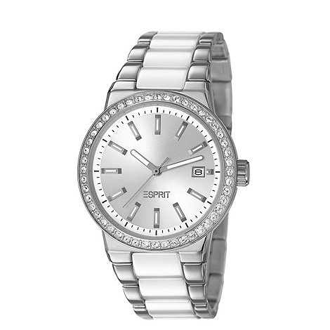 Esprit - Ladies stainless steel watch with ceramic links