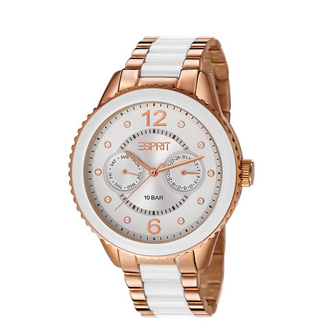Esprit - Ladies stainless steel multifunction watch with coloured links