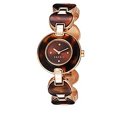 Esprit - Ladies stainless steel watch with tortoise shell styling