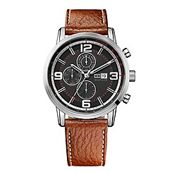 Tommy Hilfiger - Men's brown chronograph strap watch