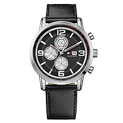 Tommy Hilfiger - Men's black chronograph strap watch