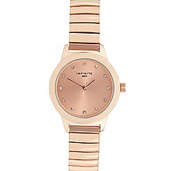 Infinite - Ladies rose gold diamante bracelet watch