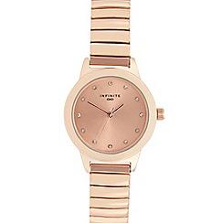 Infinite - Ladies rose gold diamante bracelet watch
