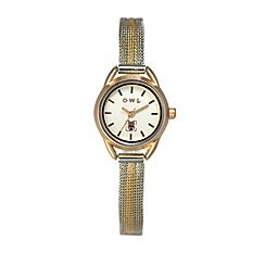 O.W.L - Ladies 'Cambridge' gold watch with two tone mesh bracelet