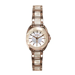 O.W.L - Ladies 'Chelsea' gold watch with resin bezel and bracelet links