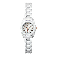 O.W.L - Ladies 'Oxford' white silicone coated bracelet watch