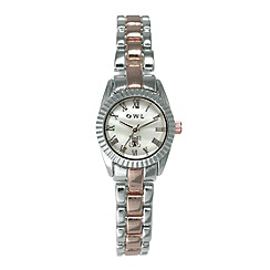 O.W.L - Ladies 'Oxford' two tone silver and rose gold bracelet watch