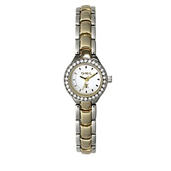 O.W.L - Ladies 'Sandringham' silver and gold bracelet watch with Swarovski crystals