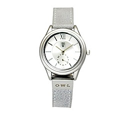 O.W.L - Ladies 'York' silver case on grey leather strap