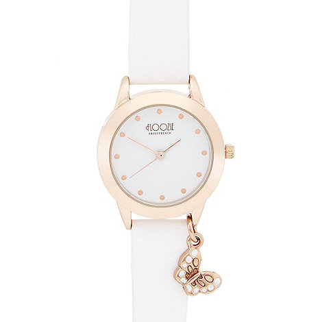 Floozie by Frost French - Ladies white butterfly charm watch