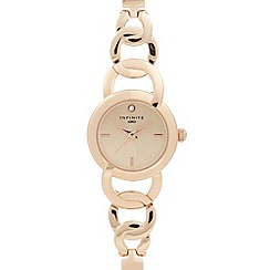 Infinite - Ladies rose gold circle link watch