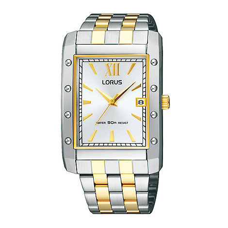 Lorus - Men+s two tone bracelet watch with date function