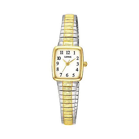 Lorus - Ladies two tone expandable bracelet watch