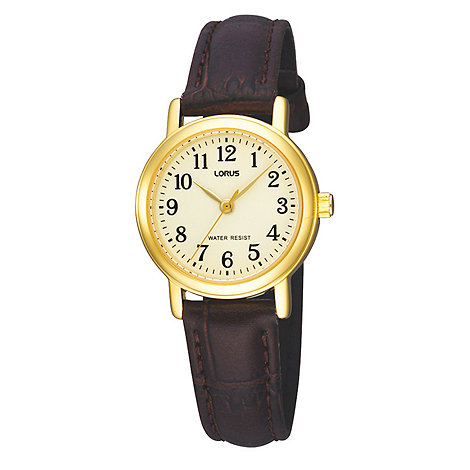 Lorus - Ladies gold coloured mother of pearl dial watch