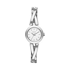 DKNY - Ladies silver 'Crosswalk' watch