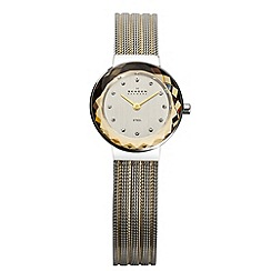Skagen - Ladies two tone mesh bracelet watch