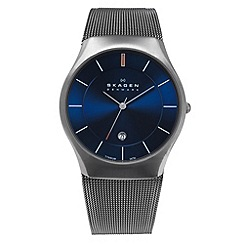 Skagen - Men's 'Aktiv' grey mesh watch