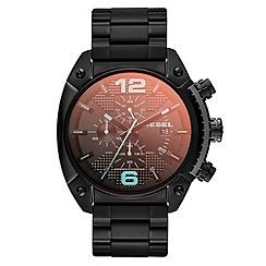 Diesel - Men's 'Overflow' black iridescent dial bracelet watch