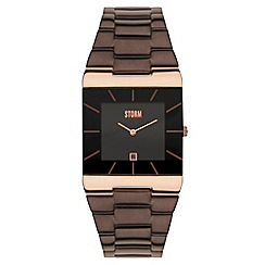 STORM - Men's brown dial Slimline bracelet watch