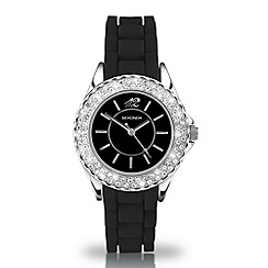 Sekonda - Ladies 'partytime' black dial watch with diamante bezel