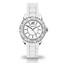 Sekonda - Ladies 'partytime' white dial watch with diamante bezel