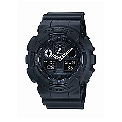 G-shock - Men's  black round face digi-analogue watch